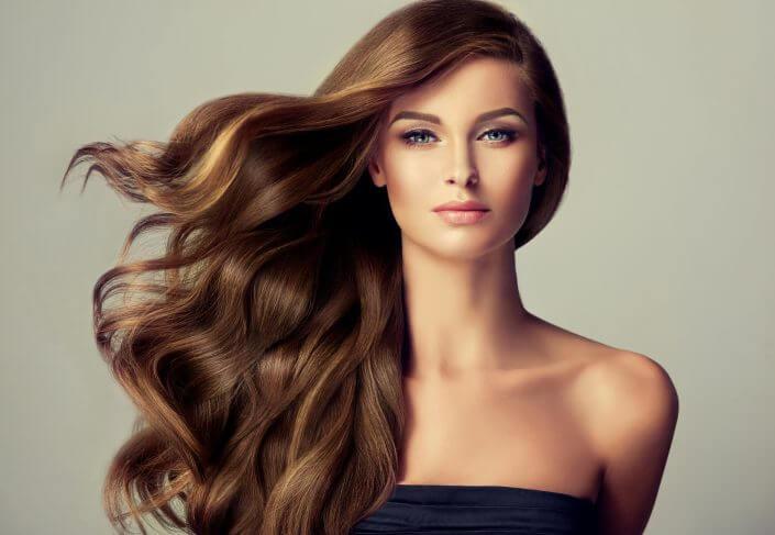 Hårmodell, brunett